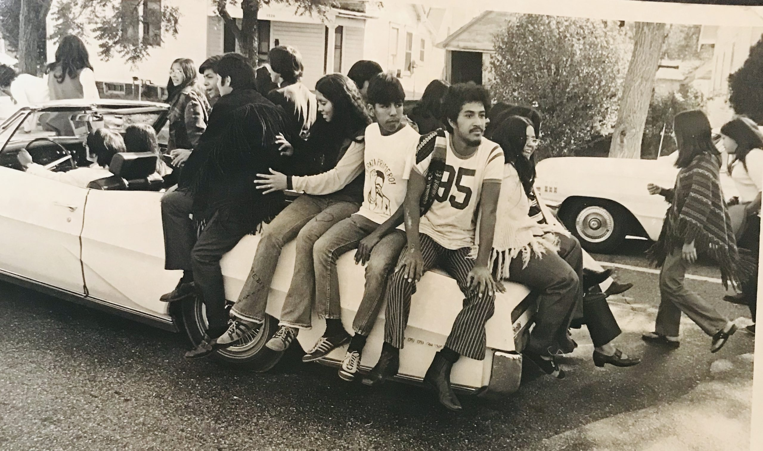 Students from North High at the Chicano Mexican Independence Day, 1971.